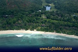 Luftbild Le Lemuria Resort in Praslin